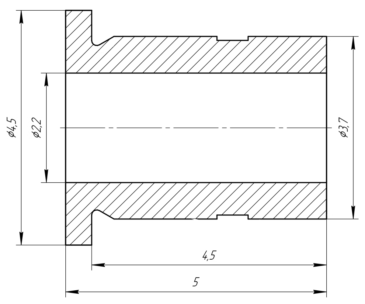 Втулка для пилотного сверления Ø2.2